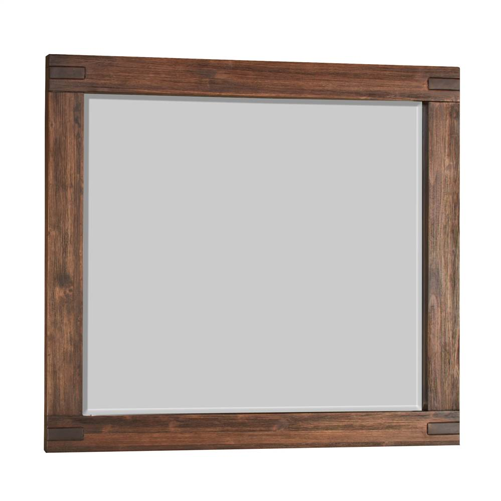 Modus Furniture Meadow Solid Wood Rectangular Mirror in Brick Brown by Modus Furniture International