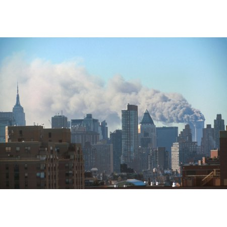 Smoke Billowing From The Twin Towers Following September 11Th Terrorist Attack On World Trade Center Photo Taken From The Midtown West Near 60Th Street Within The First 72 Minutes Of The Attack New