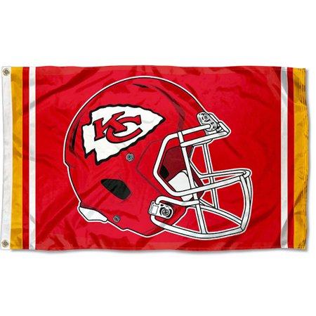 KC Chiefs New Helmet 3x5 Foot (Kansas City Chiefs Flag)