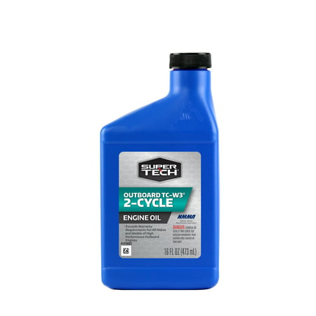 2 Cycle Oil Ratio - (6 Pack) SuperTech⢠Outboard 2-Cycle TC-W3® Engine Oil 16 fl. oz. Plastic Jug