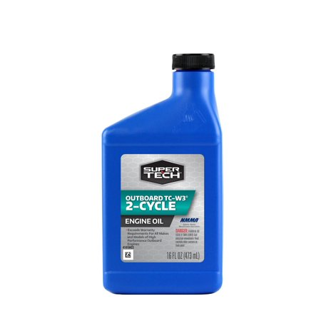 (6 Pack) SuperTech⢠Outboard 2-Cycle TC-W3® Engine Oil 16 fl. oz. Plastic