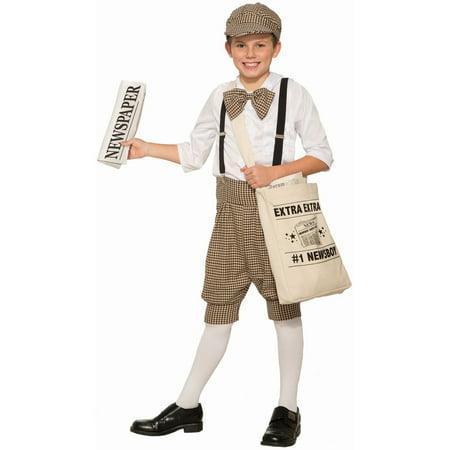 Halloween Newsboy Infant/Toddler Costume - News Boy Costume