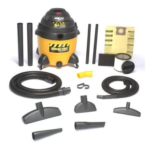 Shop-Vac 9609710 18-Gallon 6.5 Peak HP Poly Vacuum Cleaner with Dual Accessories