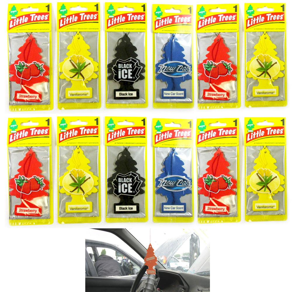 12 Little Trees Air Freshener Hanging Car Auto Home Office Room Mirror Scent Lot