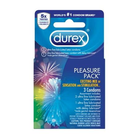 - Durex Pleasure Pack Condoms, 3 Ct