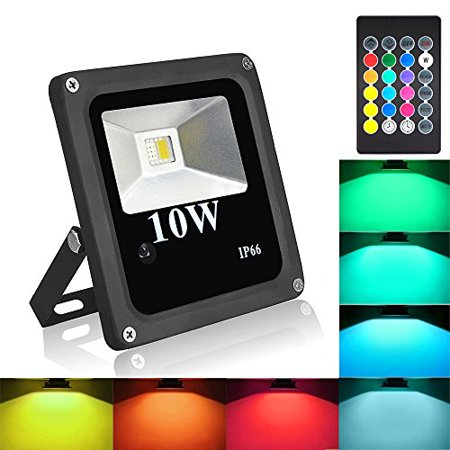 Blinngo 10w rgbw led flood light outdoor waterproof security lights blinngo 10w rgbw led flood light outdoor waterproof security lights with us 3 plug aloadofball Gallery