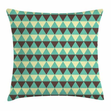 Seafoam Throw Pillow Cushion Cover Geometric Abstract Diamond Extraordinary Seafoam Decorative Pillows