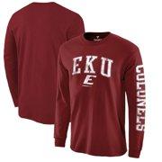 Eastern Kentucky Colonels Fanatics Branded Distressed Arch Over Logo Long Sleeve T-Shirt - Garnet