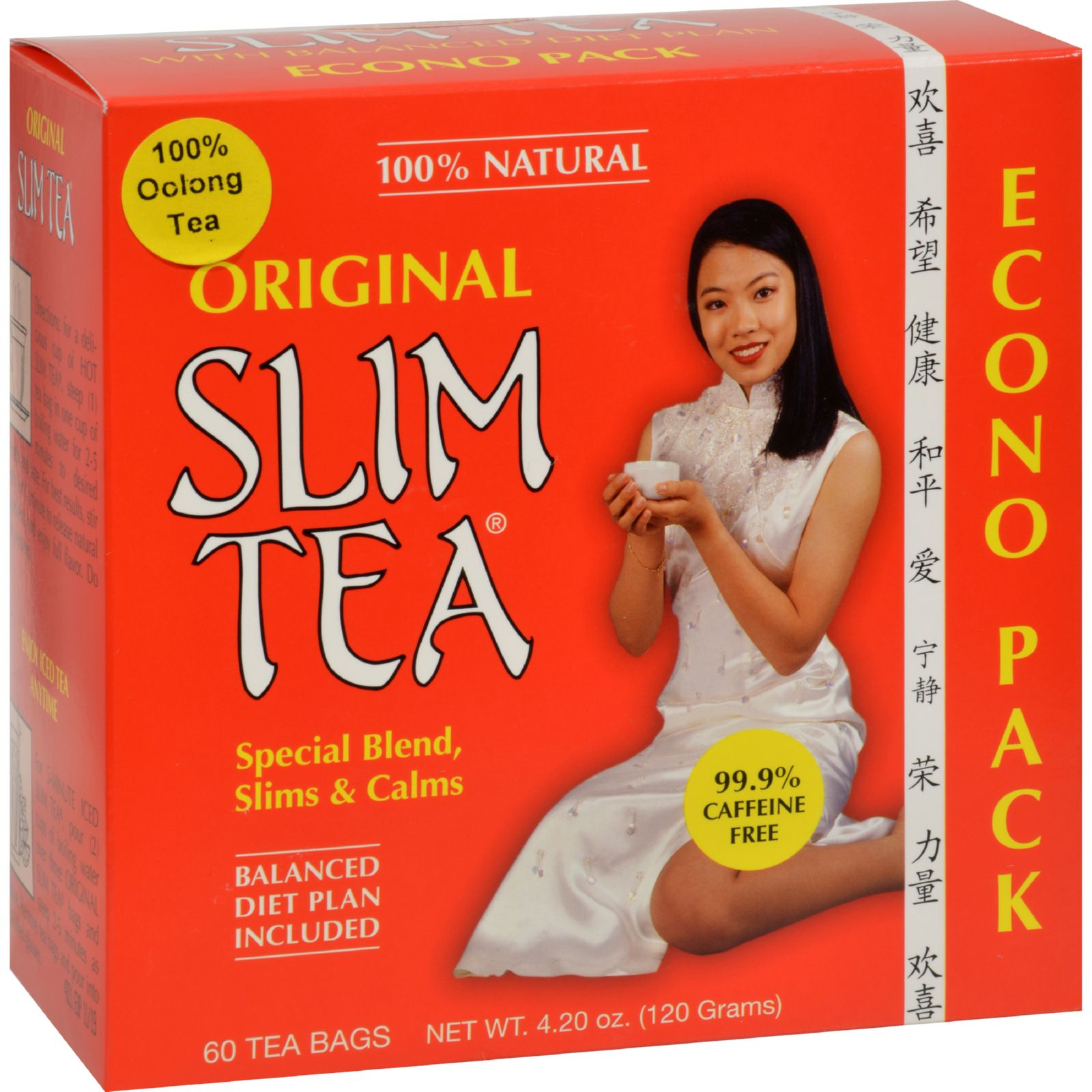 Hobe Labs Original Slim Tea -- 60 Tea Bags