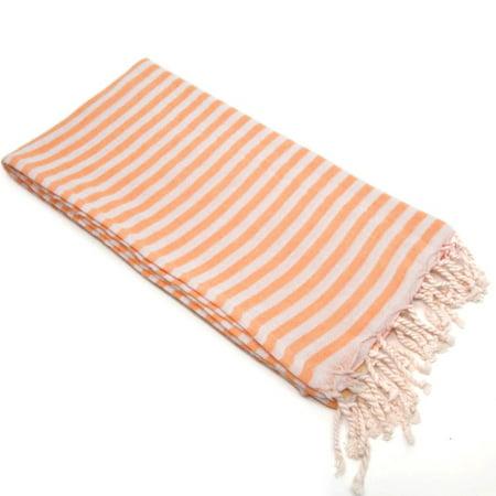 Linum Home 100% Turkish Cotton Fun in the Sun Striped Pestemal Beach Towel ()