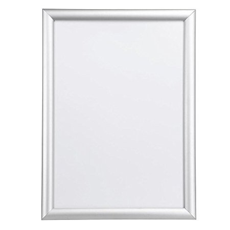 Globe House Products GHP Vertical/Horizontal Aluminum Frame Poster Frame for 12-5/8