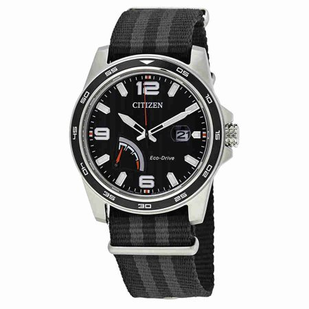 - PRT Black Dial Mens Nylon Watch AW7030-06E