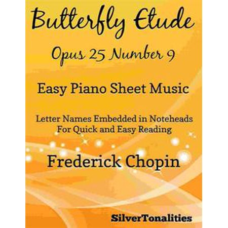 Butterfly Etude Easy Piano Sheet Music - eBook - Piano Sheet Music Halloween
