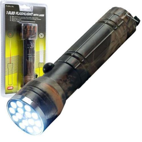 Super Bright 15 Led Flashlight With Laser