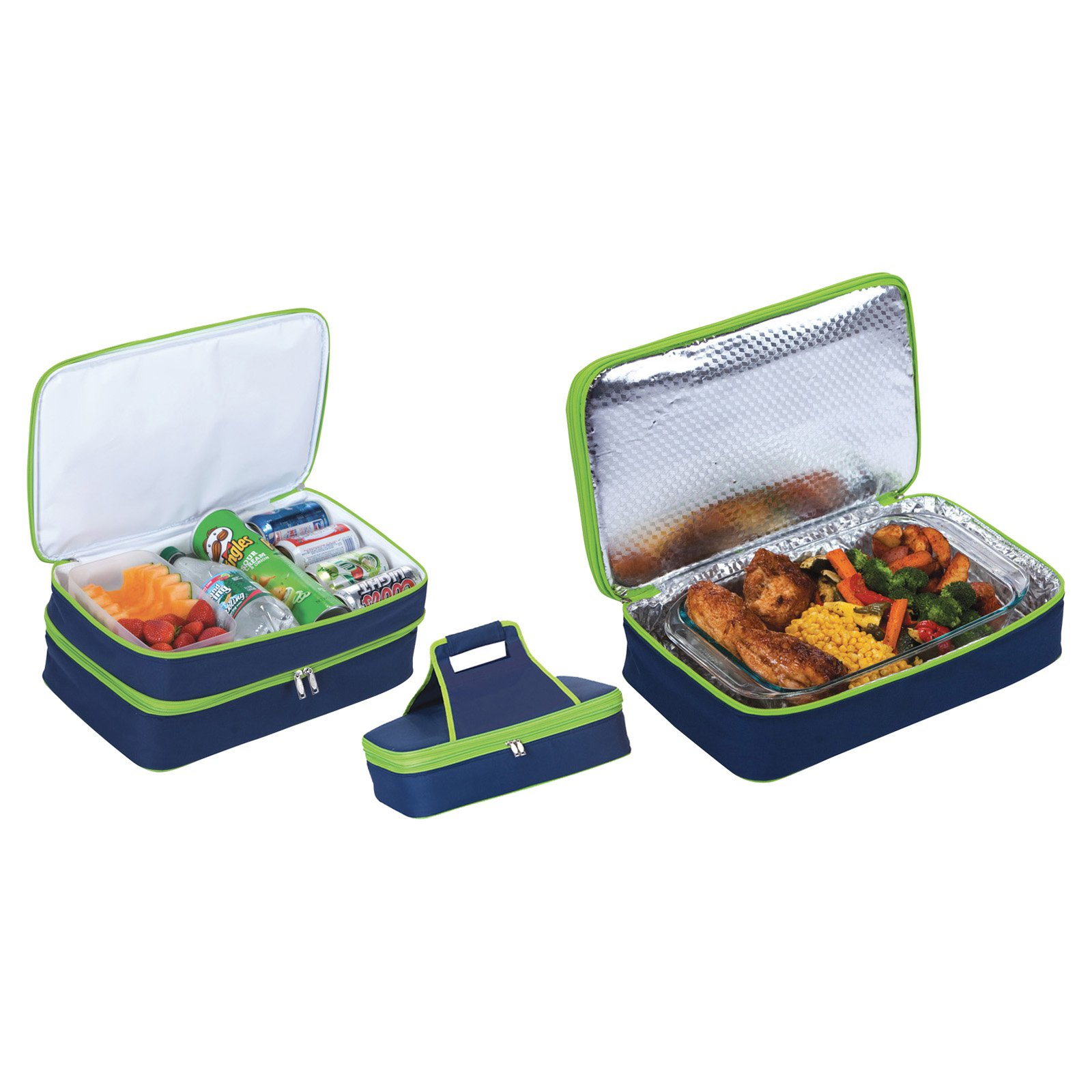 Picnic Plus Entertainer Navy Hot and Cold Food Cooler Carrier