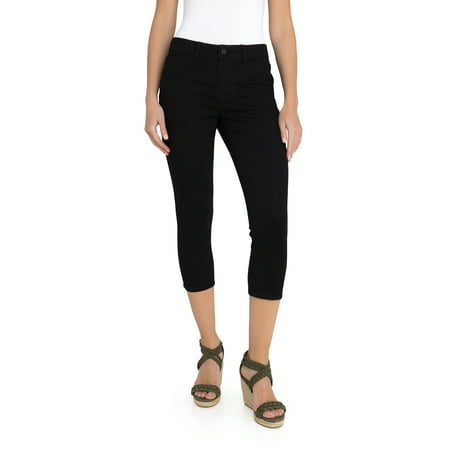 Women's Wide Waistband Cropped Leggings