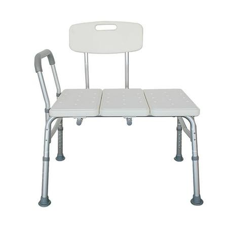 Ktaxon Shower Chair 10 Adjustable Height Back Non Slip Seat Bath Chair Bathtub Transfer Bench