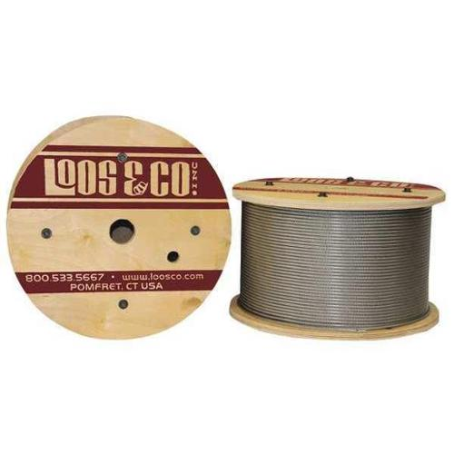 LOOS GC09477M2V Cable,100 ft.,Vinyl,3/32 in.,184 lb. G2406769