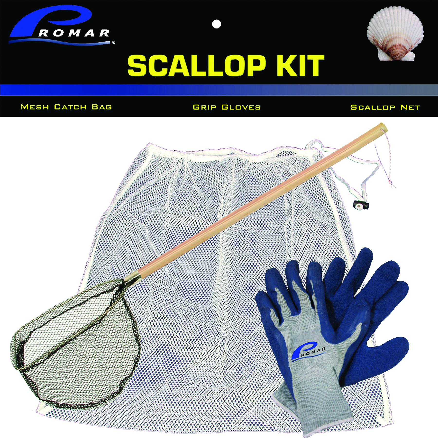 Folsom Of Florida Scallop Kit-chum Bag-bait Net-gloves