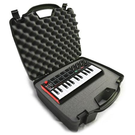 STUDIOCASE Recording Equipment Travel Hard Case w/ Customizable Foam fits Alesis SR18 and SR16 Drum Machines ,25 Key Mini Akai Professional MPK Midi Controller and
