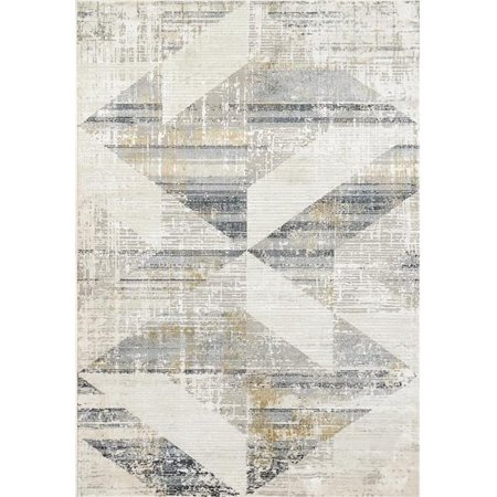 Dynamic Rugs QU91227072155 7 ft. 10 in. x 10 ft. 10 in. Quartz 27072 Area Rug, 155 Ivory & Slate