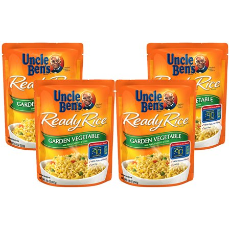 (4 Pack) UNCLE BEN'S Ready Rice: Garden Vegetable, 8.8oz 1 Rice Vegetables Stews