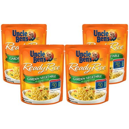 - (4 Pack) UNCLE BEN'S Ready Rice: Garden Vegetable, 8.8oz