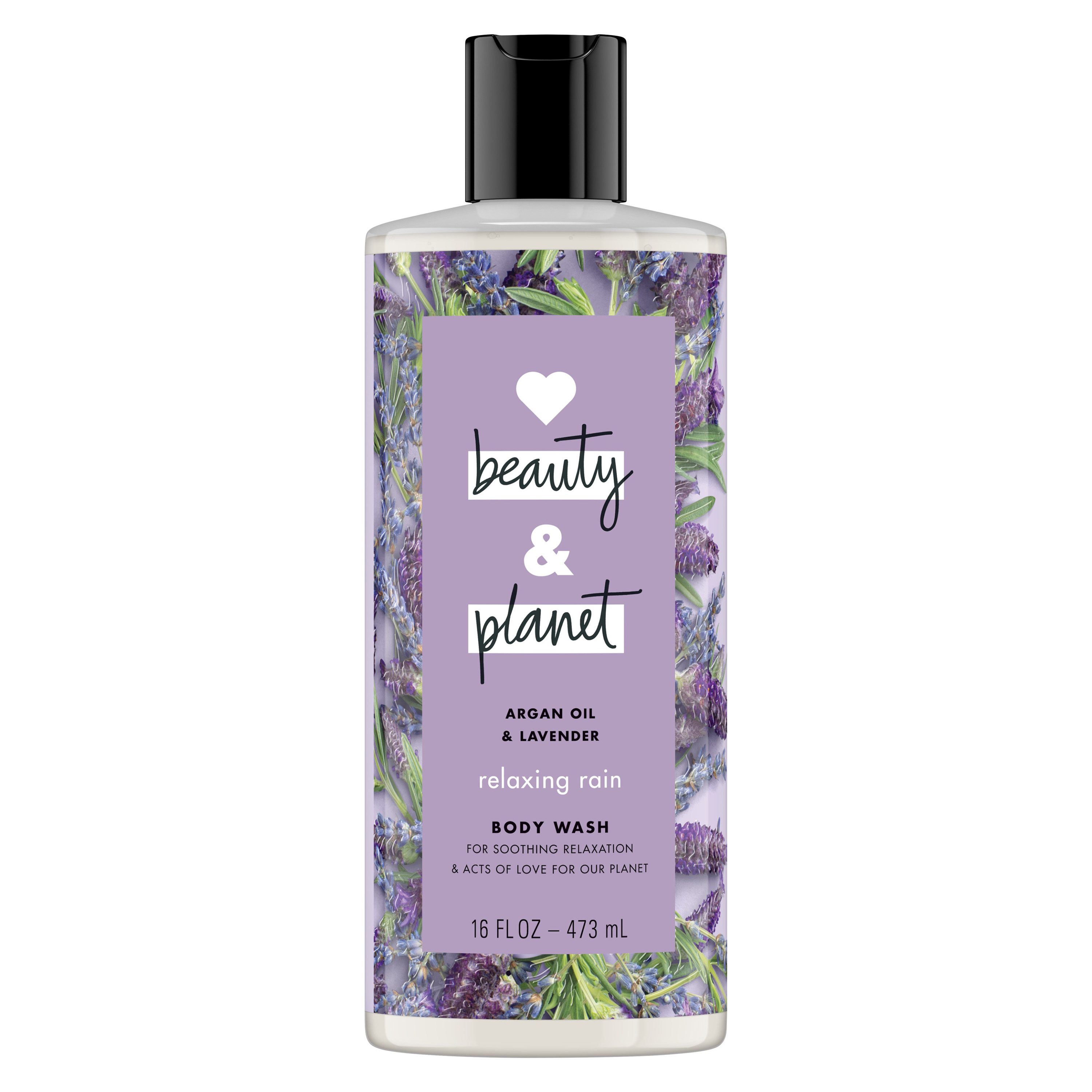 Love Beauty And Planet Relaxing Rain Body Wash Argan Oil & Lavender 16 oz