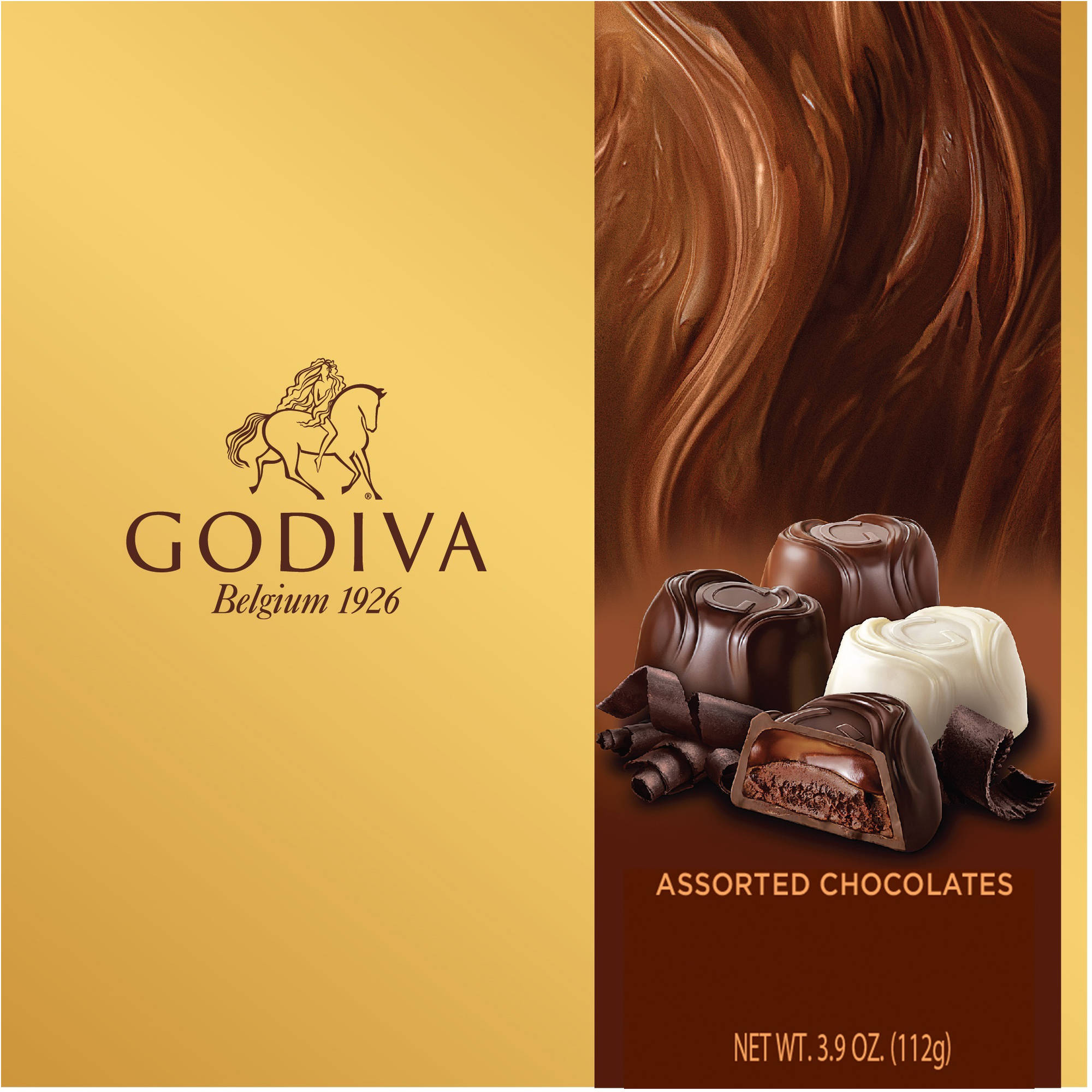Godiva Assorted Chocolates Gift Box, 3.9 oz