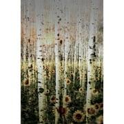 Parvez Taj Daisy Forest Art Print on Brushed Aluminum