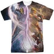 Masters of the Universe Cartoon He-Man Skeletor Adult 2-Sided Print T-Shirt