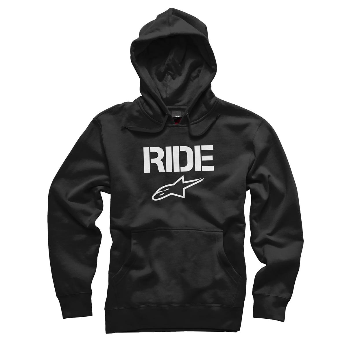 Alpinestars Ride Mens Pullover Hoody Black/White