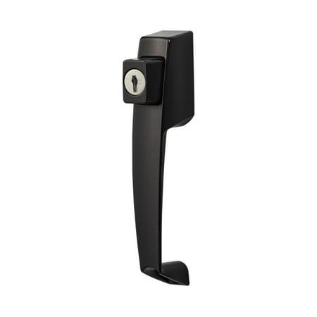 VP Push Button Handle Set with Key lock (Black) Schlage Locknetics Push Button