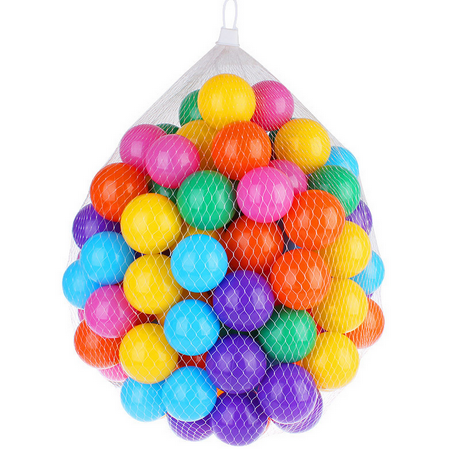 Bestller 100Pcs 3.2''Colorful Ocean Play Balls Pit Balls Baby Kids Tent Swim Toys Ball for Baby Tent Swim Toys Ball Birthday Gift Toys Outdoor Play Bounce House Christmas