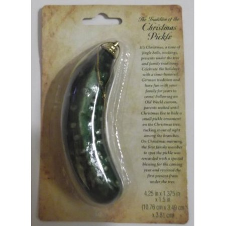 traditional german christmas pickle ornament
