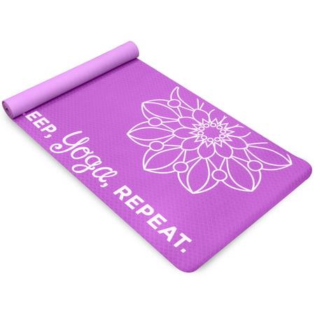 Life Energy Premium TPE EkoSmart Yoga Mat, 4mm, Yoga