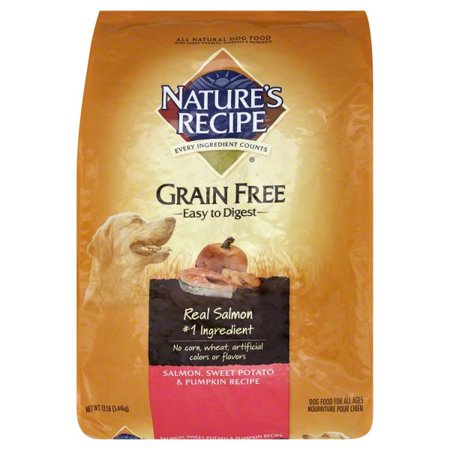 Nature's Recipe Grain Free Easy to Digest Salmon, Sweet Potato & Pumpkin Recipe Dry Dog Food, 12-Pound for $<!---->