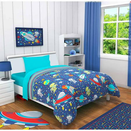 Idea nuova outer space 3 piece toddler bedding set with - Dormitorio de ninos ...