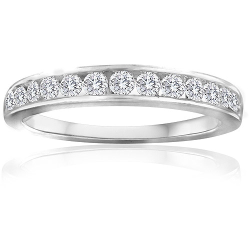 Forever Bride 1/2 Carat T.W. Diamond Sterling Silver Band