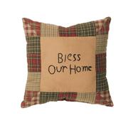 Tea Cabin Pillow Bless Our Home 10x10
