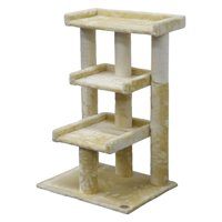 Go Pet Club Cat Tree 3-Level 35 in. Scratcher Post Cat Tree