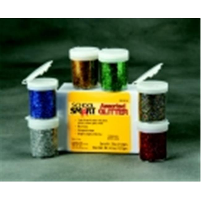 School Smart Non-Toxic Craft Glitter With Shaker Tops, Set - 6