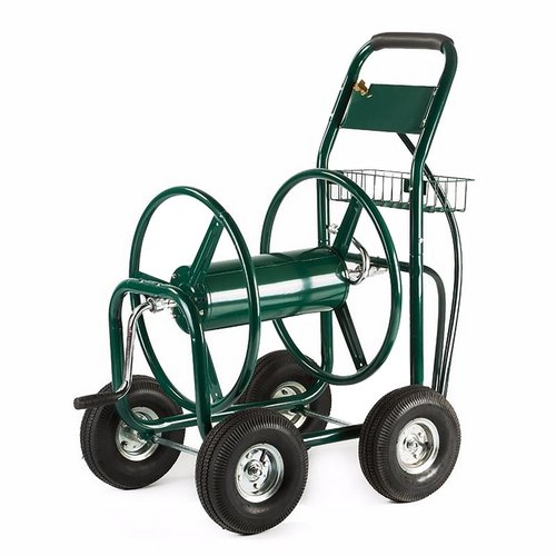ALEKO GHRC400 Heavy Duty Hose Reel Cart Industrial 4 Wheel 400' Hose Capacity Outdoor Yard... by ALEKO