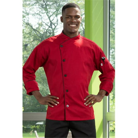 Vtex 0491-1909 5 Button with Piping Red Panama Chef Coat, 5X Large - image 1 of 1