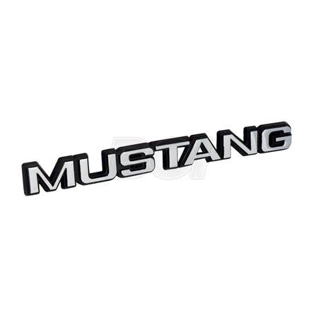 1979-1986 MUSTANG Letters / Word Brand Trunk Lid Emblem, Font style same as emblem used on the 1979-1986 rear trunk deck lid By Yates Performance