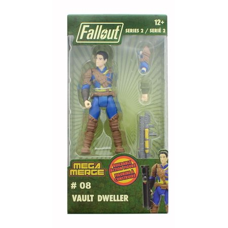 Fallout 4-Inch Mega Merge Action Figure Series 2 - Vault Dweller - Fallout Vault Suit For Sale