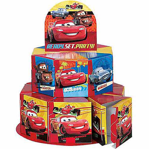 Disney Cars Favor Box Centerpiece Decoration for 8