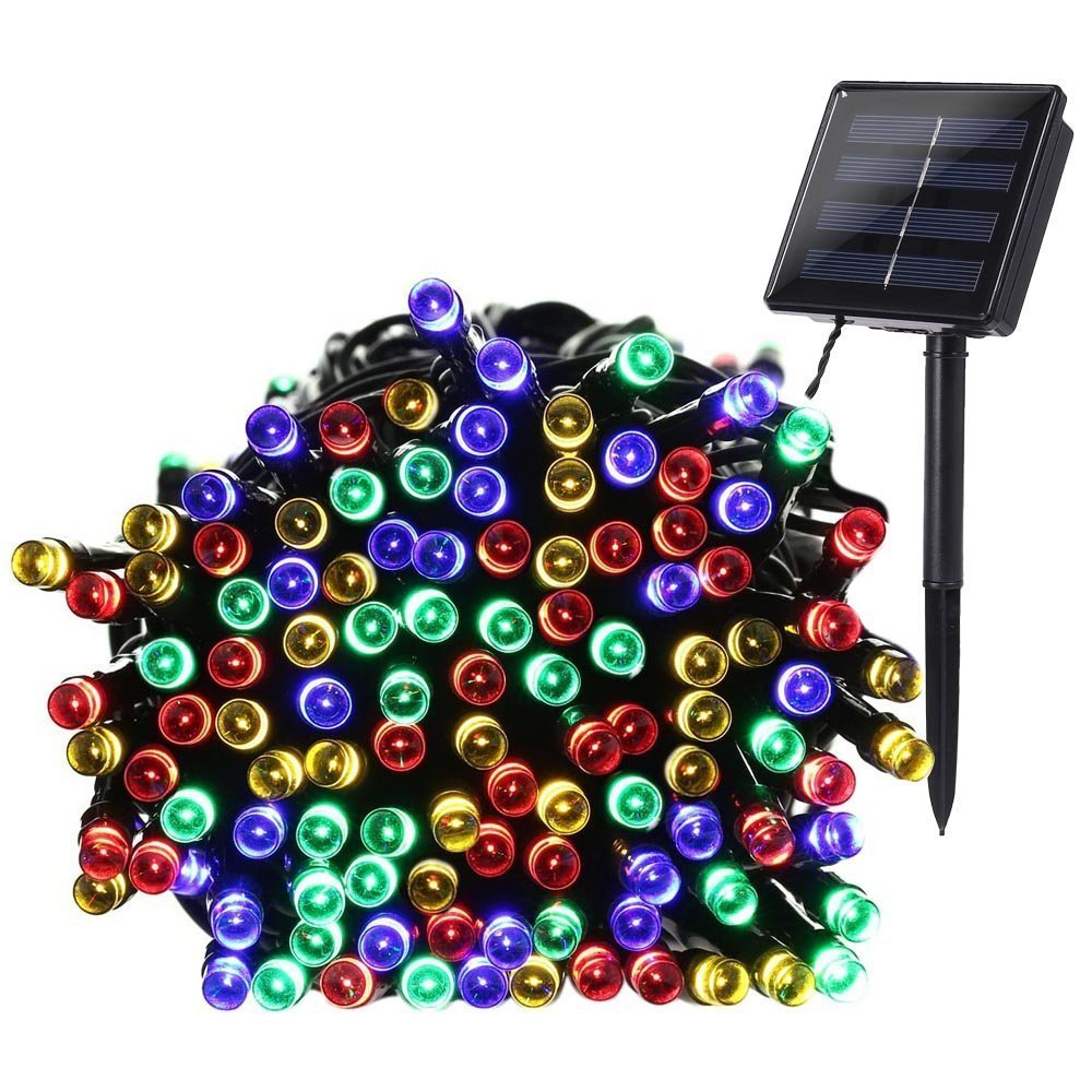 BRIGHTWORLD Two Charging Modes Colorful LED String Lights,72ft 200 Solar Light String with More Larger Solar Panel,Perfect for Outdoor,... by