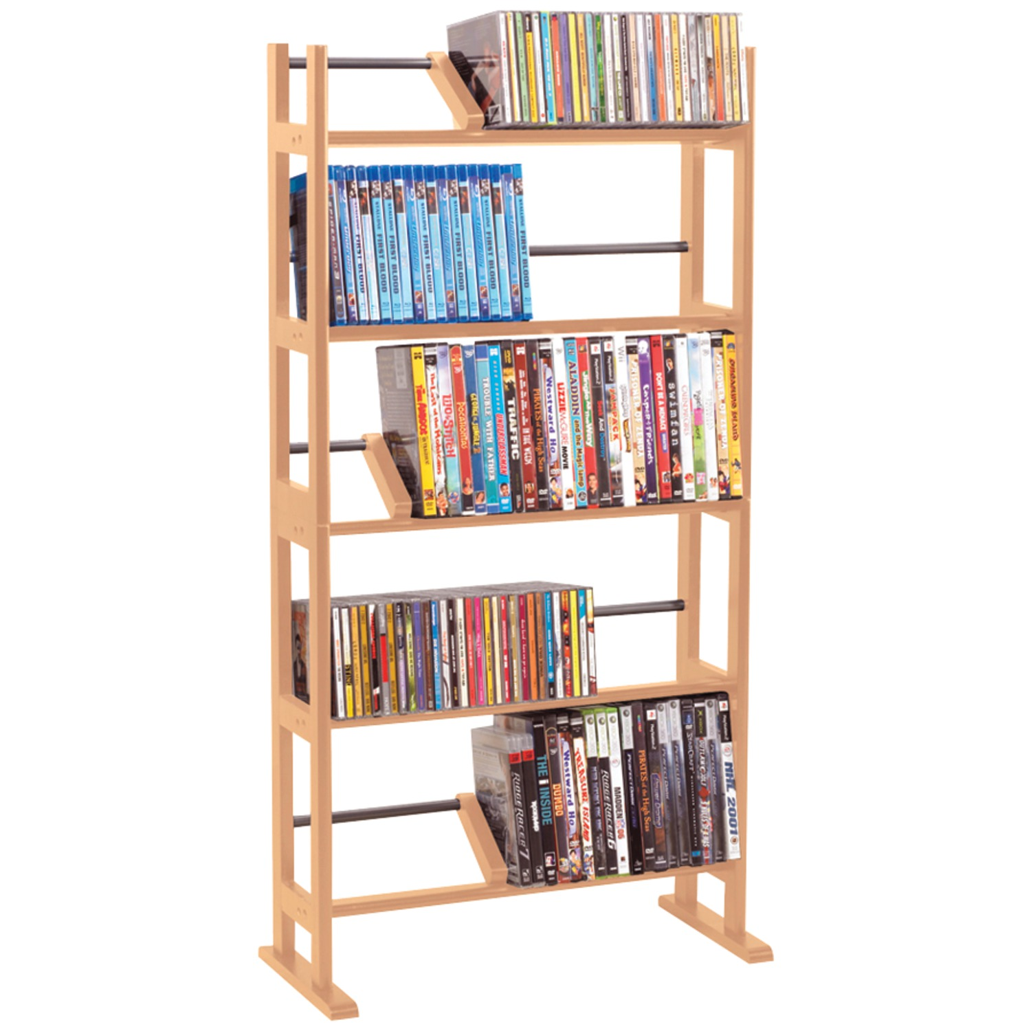 Atlantic 35535687 Element CD & DVD Rack