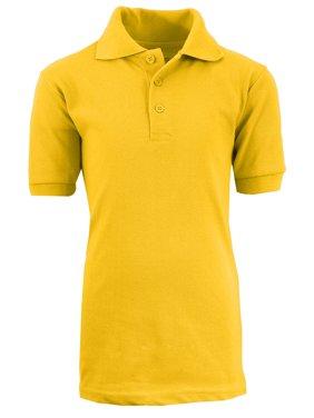 GBH Boys School Uniform Short Sleeve Pique Polo Shirt (Little Boys & Big Boys)